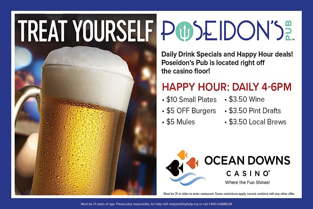 Poseidon's Pub Happy Hour