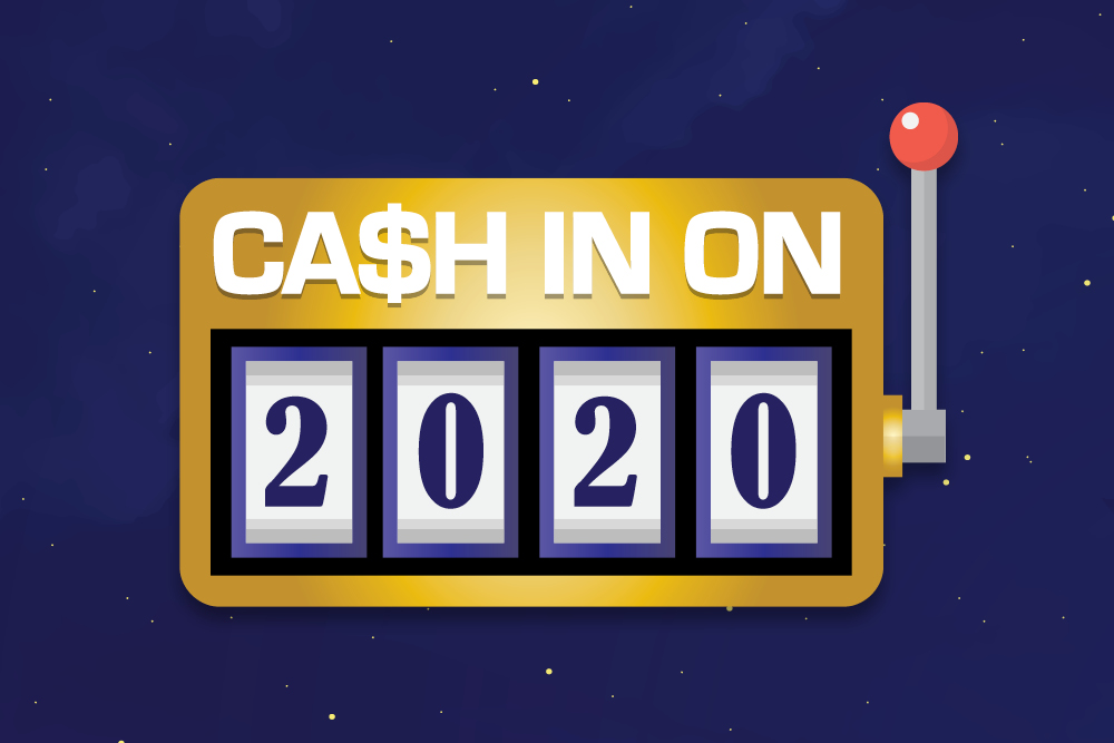 Cash in on 2020 March 20th 8 PM $220 Cash